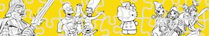 Omalovánky Puzzles Kreslené postavičky