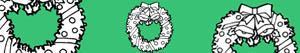 Omalovánky Vánoční věnec a girlandy