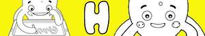 Omalovánky Jména pro Chlapce na písmeno H