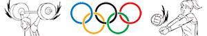 Omalovánky Olympijských sportů. Různé